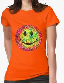 Smiley face - retro Womens Fitted T-Shirt