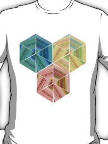 tea towel hexagon collage T-Shirt