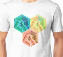 tea towel hexagon collage Unisex T-Shirt