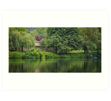 Serenity on the River Lot, Albas, France Art Print