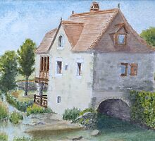 Moulin Cabrerets by HurstPainters