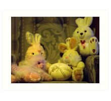 Ready for Teddies Easter Party Art Print