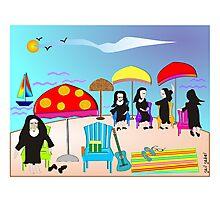 "Whimsical Nun Art  ""At The Beach"" Photographic Print"