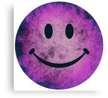 Smiley face - purple grunge Canvas Print