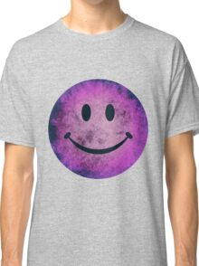 Smiley face - purple grunge Classic T-Shirt
