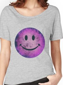 Smiley face - purple grunge Women's Relaxed Fit T-Shirt