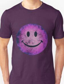 Smiley face - purple grunge Unisex T-Shirt