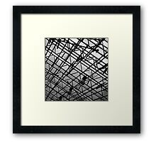 Steel Structure in black and white Framed Print