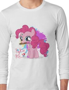 Pinkie Pie Color Splatter Long Sleeve T-Shirt