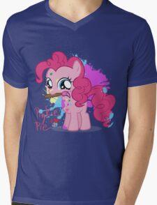 Pinkie Pie Color Splatter Mens V-Neck T-Shirt
