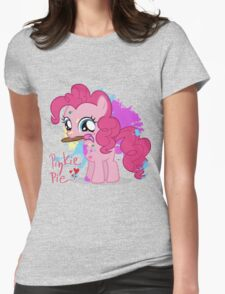 Pinkie Pie Color Splatter Womens Fitted T-Shirt
