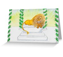 Aslan's The Man Greeting Card