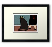 """""""The Nun and the Cat"""" Framed Print"""