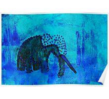 Blue Elephant Poster