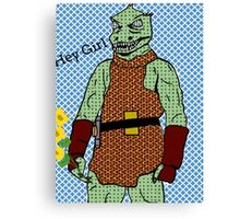 he's green, he's lean.. and he's err kind of an angry, alien reptilian Canvas Print