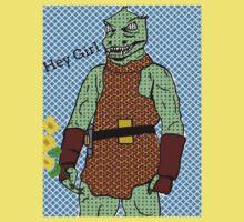 he's green, he's lean.. and he's err kind of an angry, alien reptilian Kids Tee