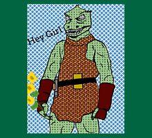 he's green, he's lean.. and he's err kind of an angry, alien reptilian Unisex T-Shirt