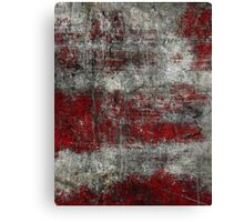 Scratched Metal - Red Canvas Print