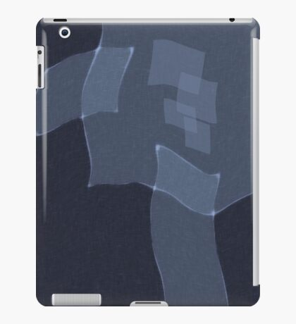 Gray and Blue iPad Case/Skin