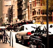 Moped in melbourne by Andrew Berends