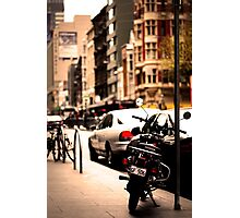 Moped in melbourne Photographic Print