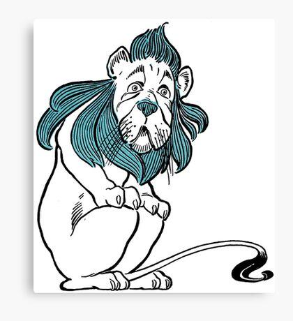 Cowardly Lion Illustration Canvas Print
