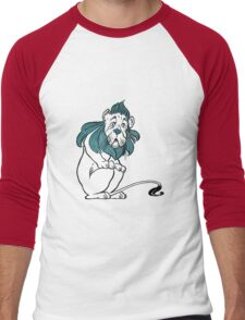 Cowardly Lion Illustration Men's Baseball ¾ T-Shirt