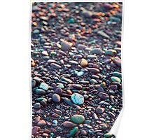 Washed Stones at Sunset - Waterville, Co. Kerry Poster