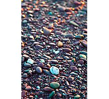 Washed Stones at Sunset - Waterville, Co. Kerry Photographic Print