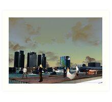 Melbourne Docklands, Australia 01 Art Print