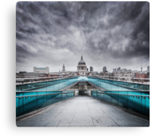 Millenium Bridge, London  Canvas Print