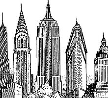 New York City Skyline Sticker by indianastickies