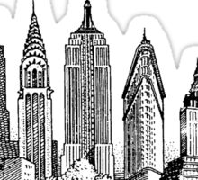 New York City Skyline Sticker Sticker
