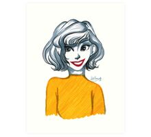 The Girl With the Mustard Shirt Art Print