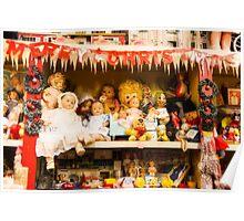 Dolls on the Shelf Poster