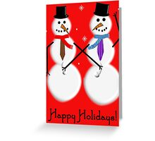 Gay Snowmen Art Greeting Card