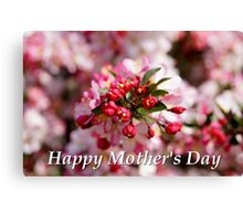 Mother's Day Card 1 Canvas Print