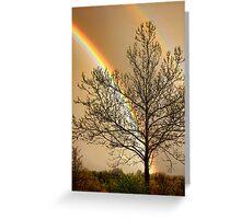 Front Yard Rainbow Greeting Card