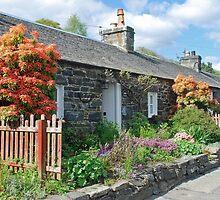 Front gardens in Pitlochry - Scotland by Arie Koene