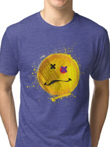 Smiley face - roadkill Tri-blend T-Shirt