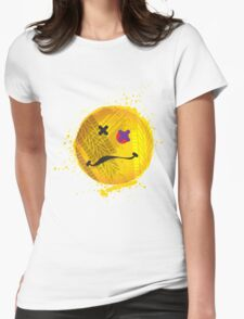 Smiley face - roadkill Womens Fitted T-Shirt