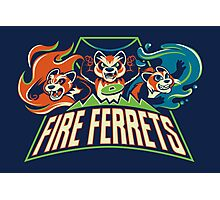 Fire Ferrets! Photographic Print