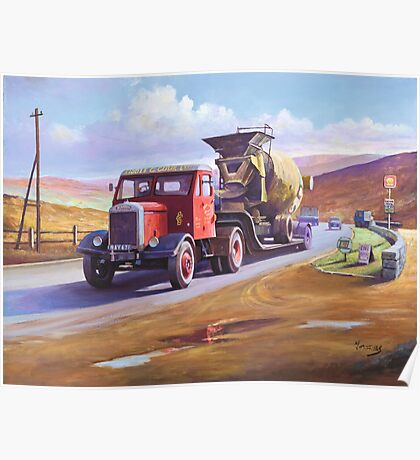 Siddle C Cook's Scammell Poster