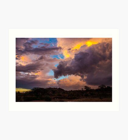 Storm brewing over the desert Art Print
