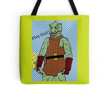 he's green, he's lean.. and he's err kind of an angry, alien reptilian Tote Bag