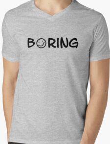 Boring black 2 Mens V-Neck T-Shirt