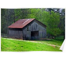 Ventillated Barn on Red Clay Road Poster