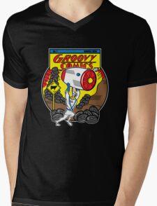 Groovy Comics Mens V-Neck T-Shirt