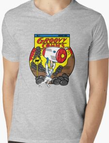 Groovy Comics Mens V-Neck T-Shirt