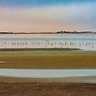 Last light over Walvis bay Lagoon by Rudi Venter